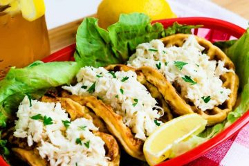 Keto Chaffle Crab Roll LowCarbingAsian Cover