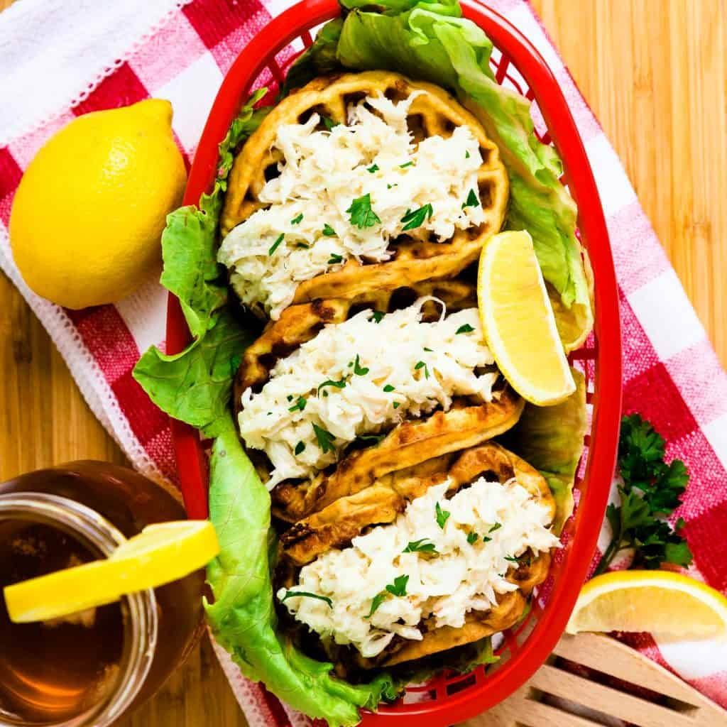 Keto Chaffle Crab Roll LowCarbingAsian Pic 2