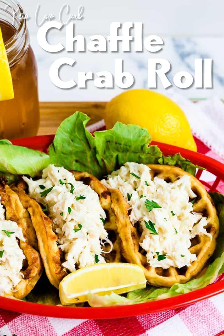Crab Chaffle Crab Roll