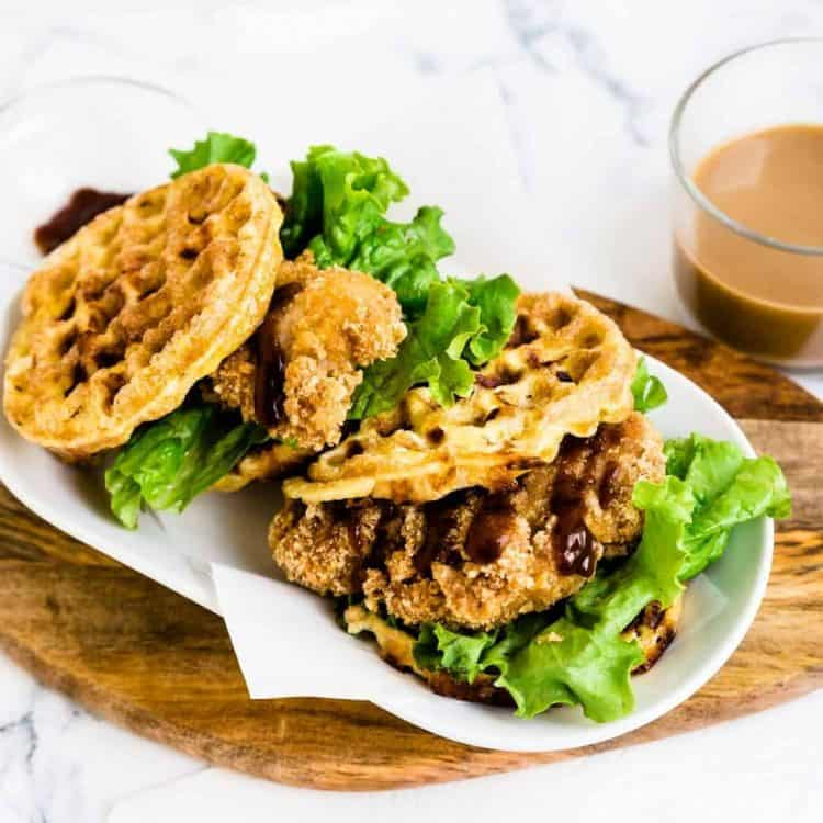 Keto Chaffle Katsu Sandwich LowCarbingAsian Cover