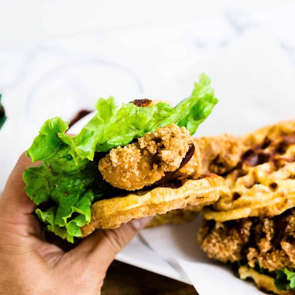 Keto Chaffle Katsu Sandwich LowCarbingAsian Pic