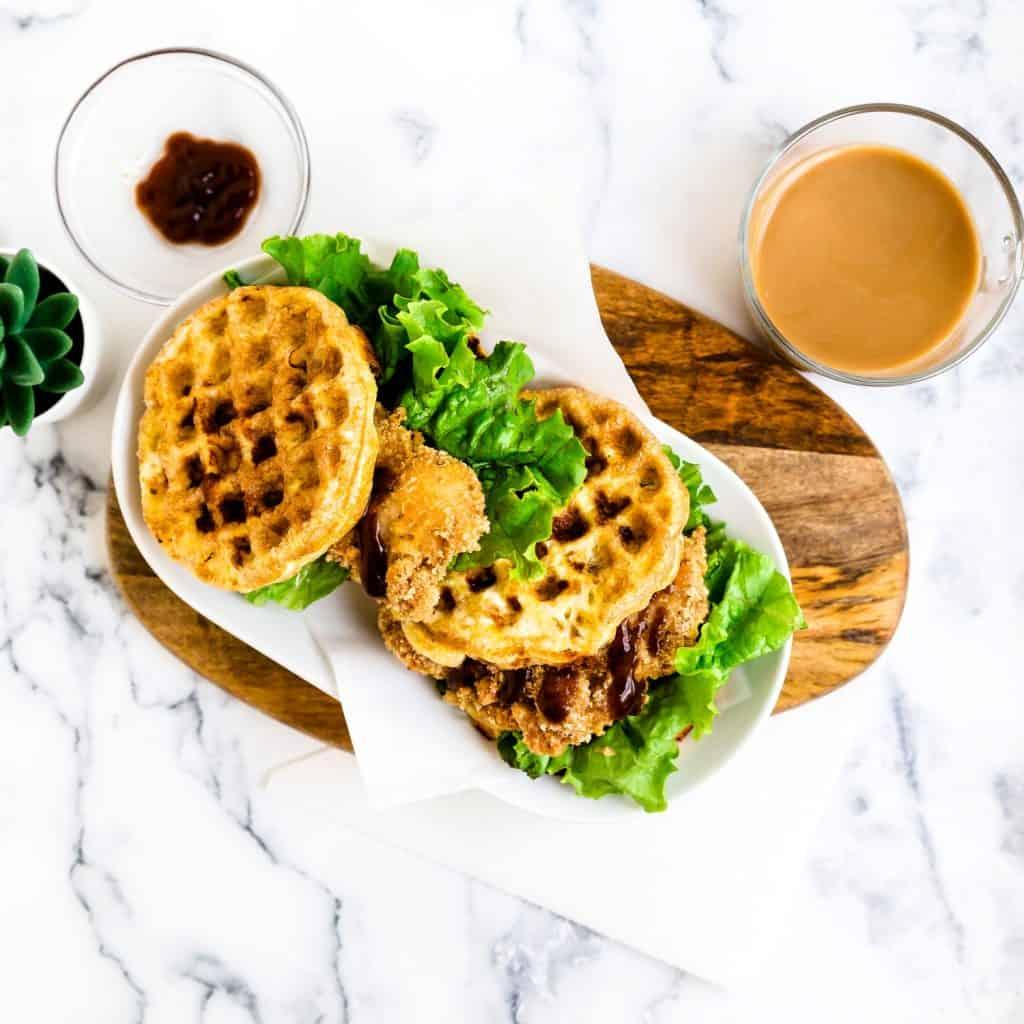 Keto Chaffle Katsu Sandwich LowCarbingAsian Pic 2