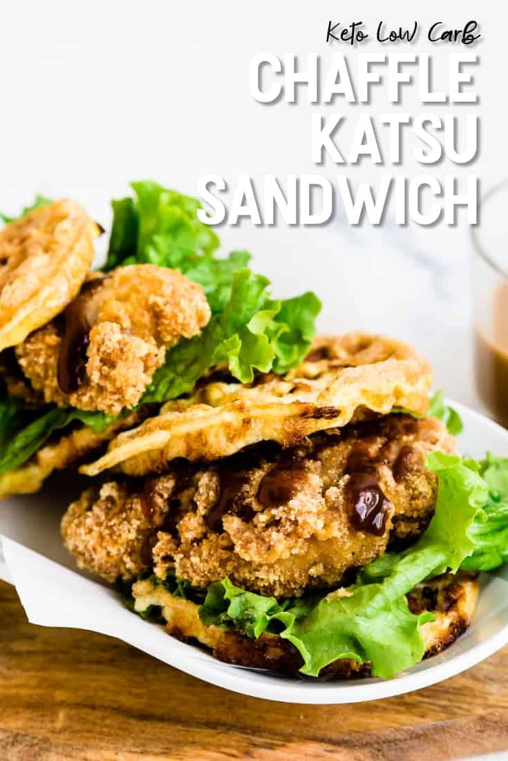 Keto Low Carb Chaffle Katsu Sandwich