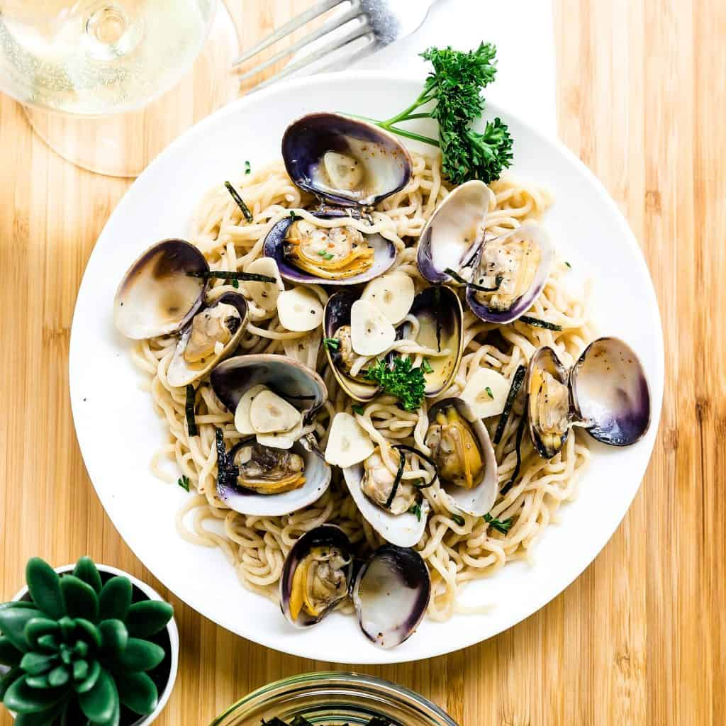 Keto Japanese Style Vongole Pasta LowCarbingAsian Pic 2