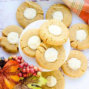 Keto Pumpkin Cream Cheese Cookies LowCarbingAsian Cover