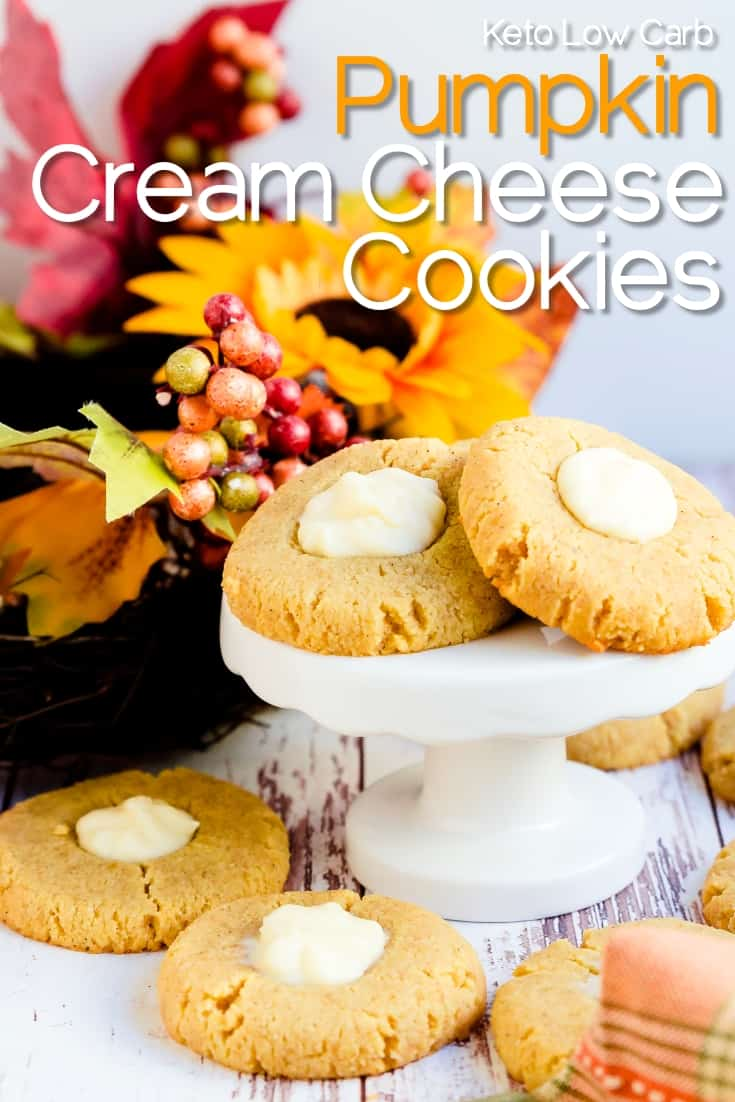 Keto Pumpkin Cream Cheese Cookies LowCarbingAsian Pin 1