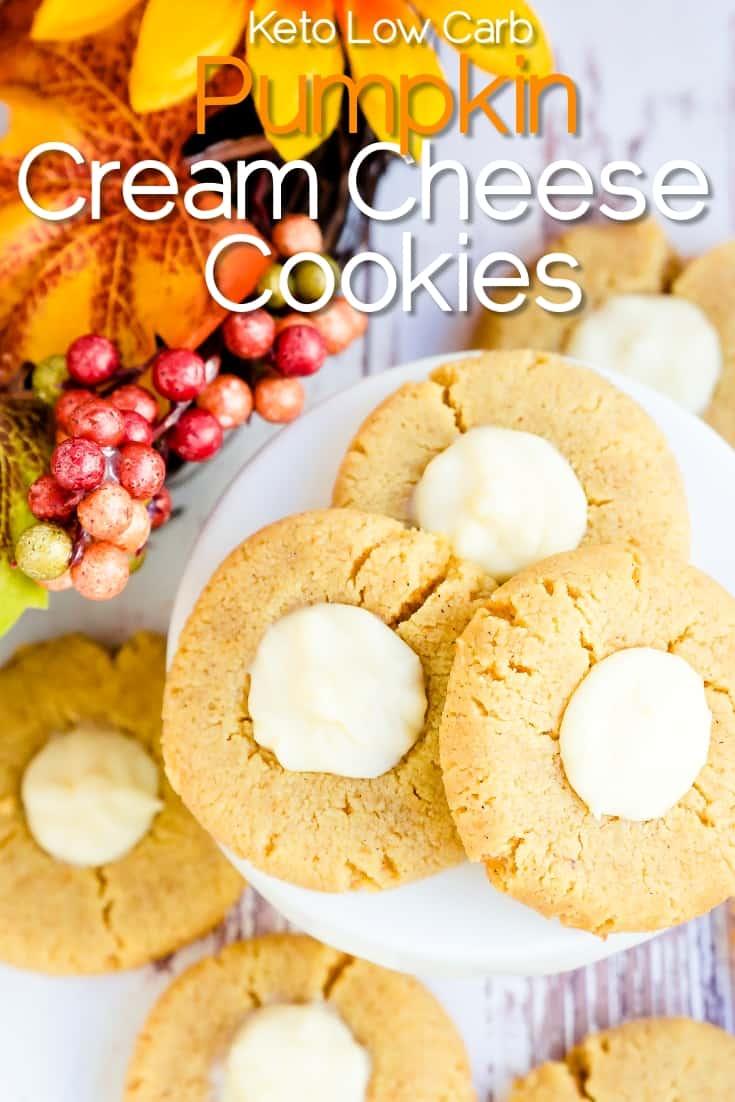 Keto Low Carb Pumpkin Cream Cheese Cookies