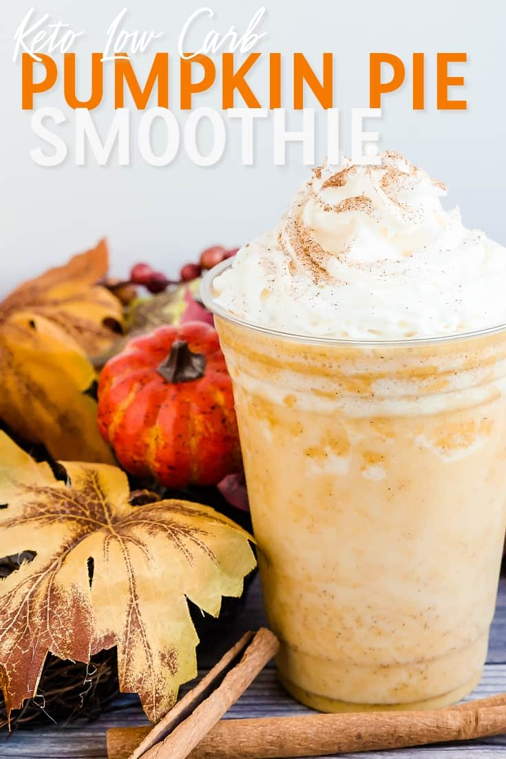 Keto Pumpkin Pie Smoothie LowCarbingAsian Pin 1