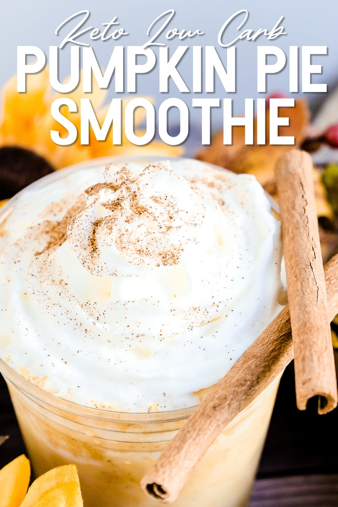 Keto Pumpkin Pie Smoothie Close Up
