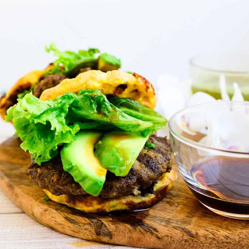 Keto Teri Avocado Burger LowCarbingAsian Pic 2