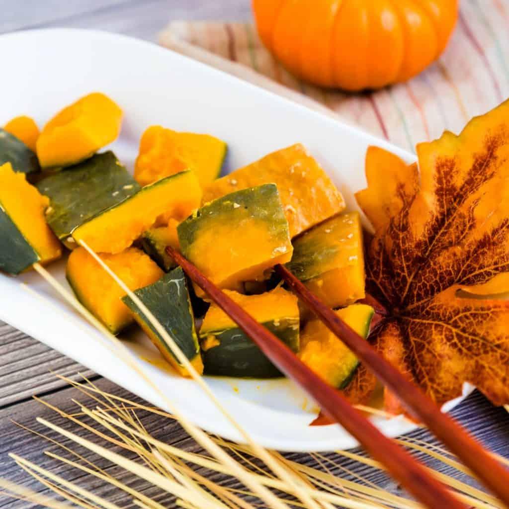 Simmered Sweet Pumpkin - Japanese Kabocha LowCarbingAsian Pic