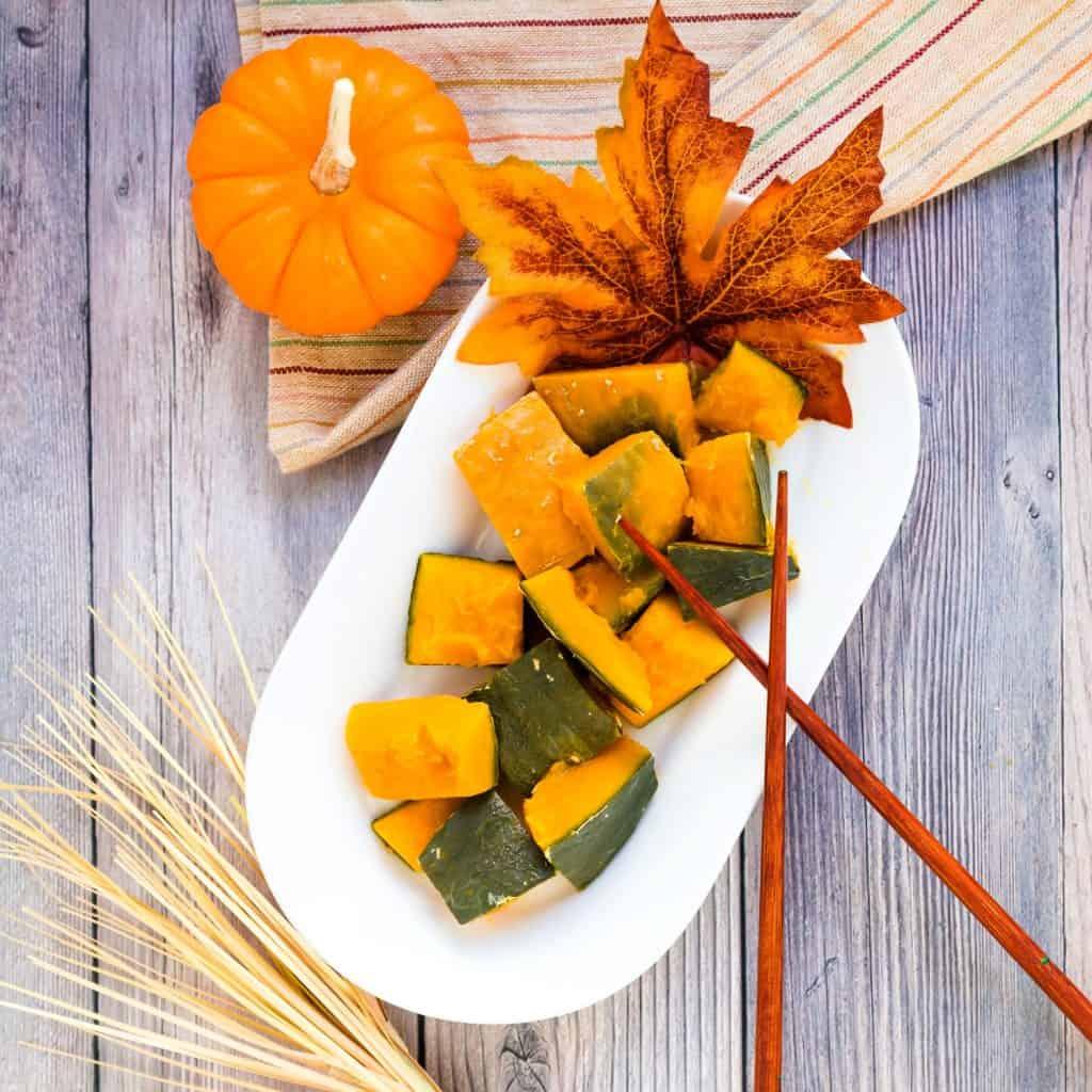 Simmered Sweet Pumpkin - Japanese Kabocha LowCarbingAsian Pic 2