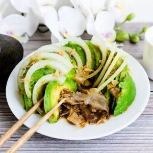 Wasabi Avocado Salad LowCarbingAsian Cover