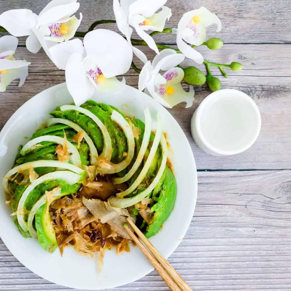 Wasabi Avocado Salad LowCarbingAsian Pic