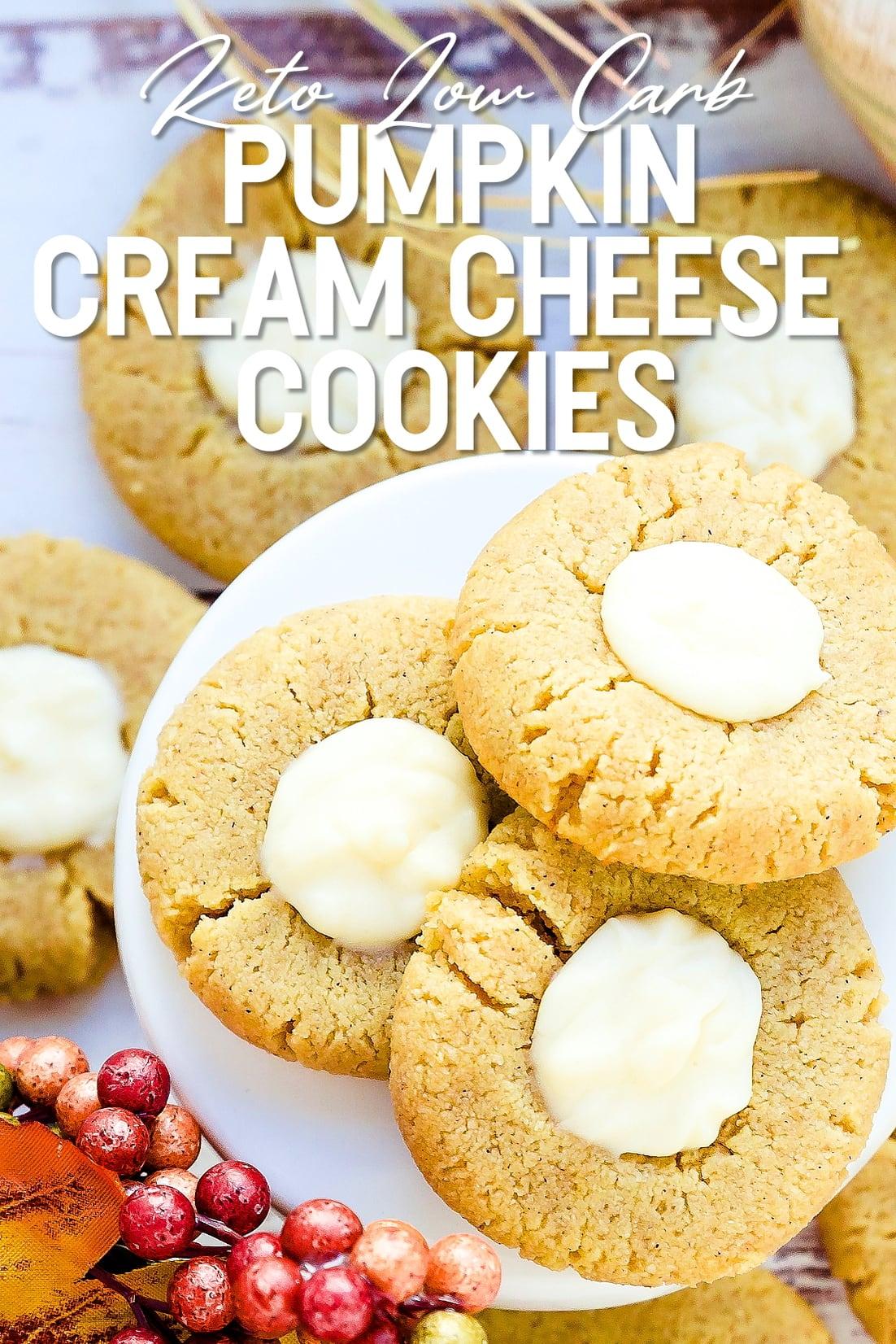 Keto Pumpkin Cream Cheese Cookies Top Down