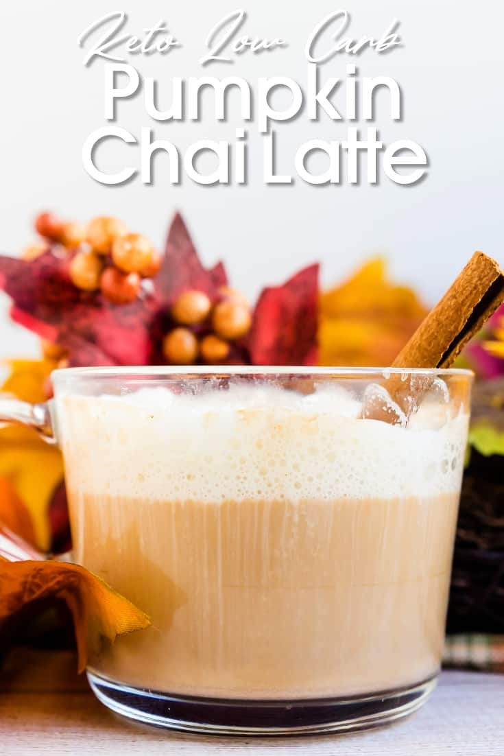 Keto Low Carb Pumpkin Chai Latte