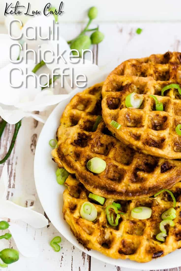Keto Cauli Chicken Chaffle LowCarbingAsian Pin 1