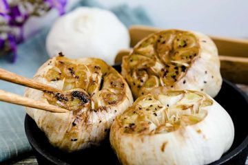 Japanese Style Roasted Garlic Bulb LowCarbingAsian Cover Update 4