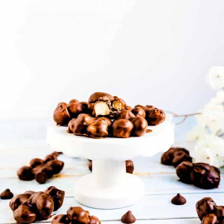 Keto Chocolate Macadamia Nut Clusters LowCarbingAsian Cover