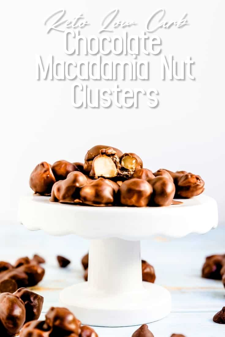Keto Low Carb Chocolate Macadamia Nut Clusters