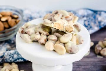 Keto Low Carb White Chocolate Almond Clusters LowCarbingAsian Cover