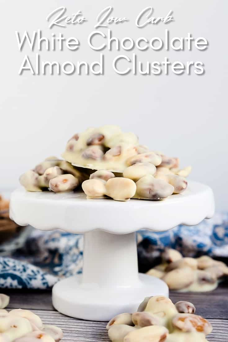 Keto Low Carb White Chocolate Almond Clusters LowCarbingAsian Pin 1