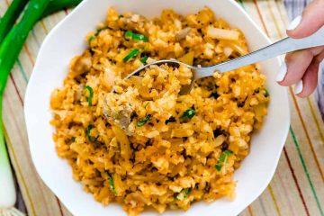 Chicken Kimchi Cauliflower Fried Rice