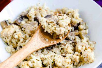 Keto Low Carb Chicken Mushroom Risotto