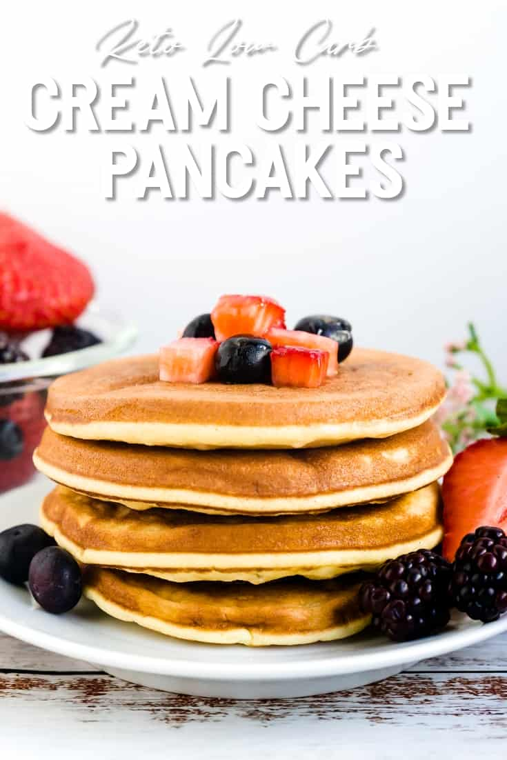 Keto Low Carb Cream Cheese Pancakes