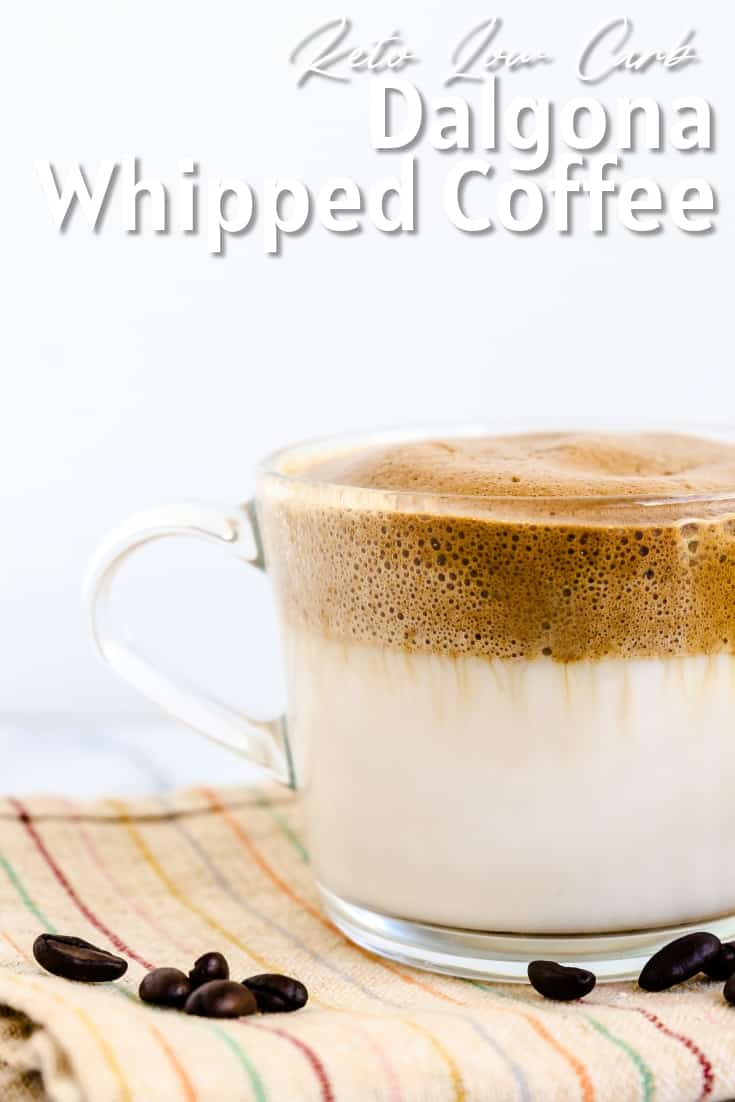 Keto Low Carb Dalgona - Whipped Coffee LowCarbingAsian Pin 1