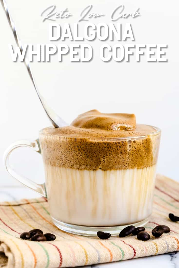 Keto Low Carb Dalgona - Whipped Coffee LowCarbingAsian Pin 2