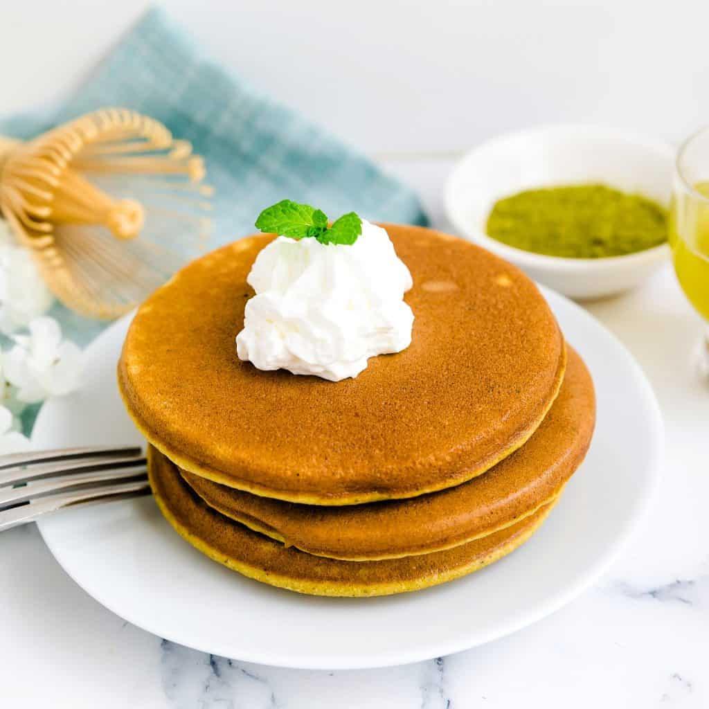 Keto Low Carb Matcha Pancakes LowCarbingAsian Pic 3