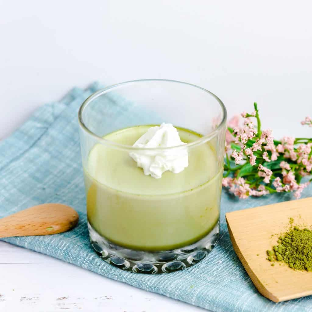 Keto Matcha Cream Jello LowCarbingAsian Pic 2