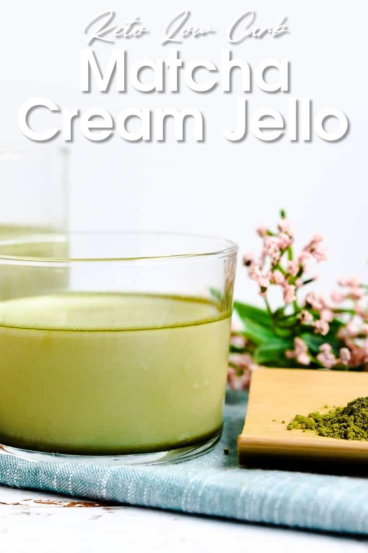 Keto Matcha Cream Jello LowCarbingAsian Pin 1