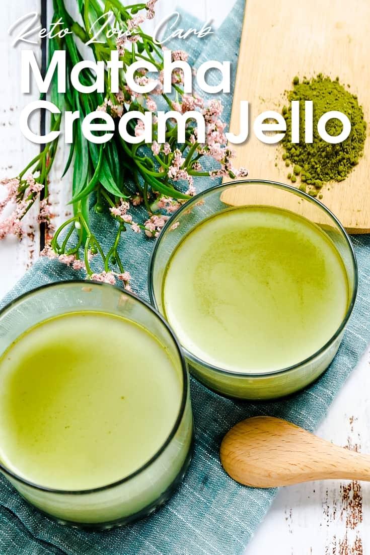 Keto Matcha Cream Jello LowCarbingAsian Pin 2
