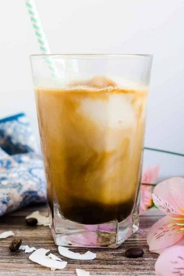 Coconut Coffee Smoothie LowCarbingAsian Cover 2