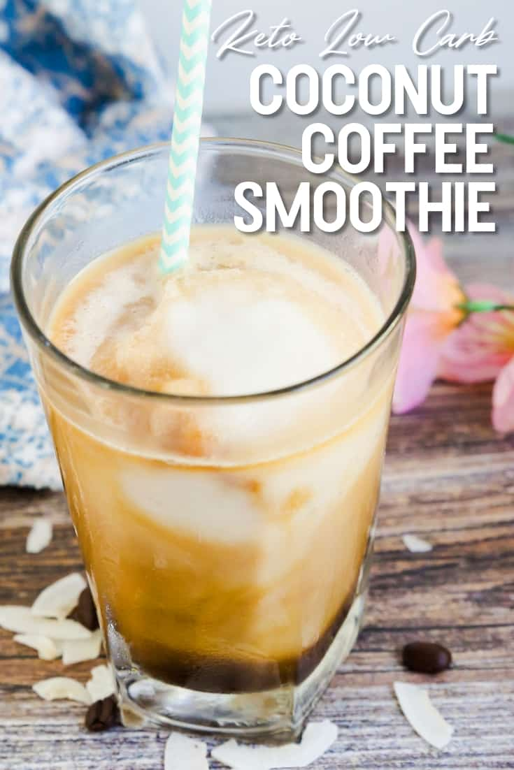 Coconut Coffee Smoothie LowCarbingAsian Pin 1