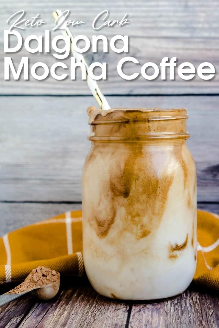 Dalgona Mocha Coffee LowCarbingAsian Pin 1