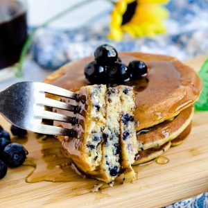 Keto Low Carb Blueberry Cream Cheese Pancakes LowCarbingAsian Cover 2