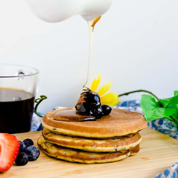 Keto Low Carb Blueberry Cream Cheese Pancakes LowCarbingAsian Pic 1