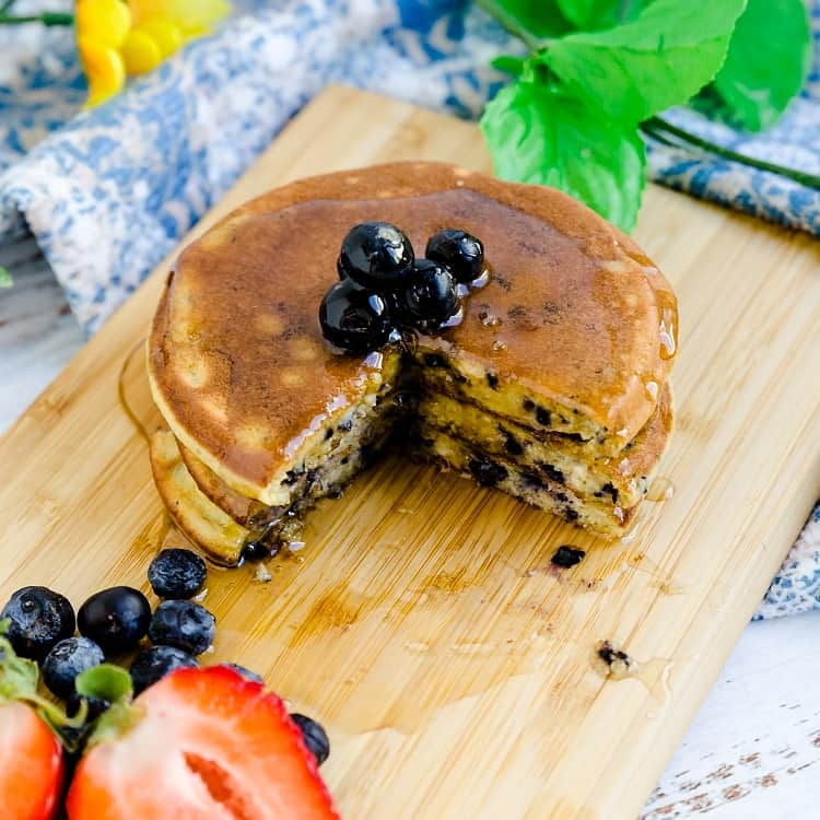 Keto Low Carb Blueberry Cream Cheese Pancakes LowCarbingAsian Pic 2