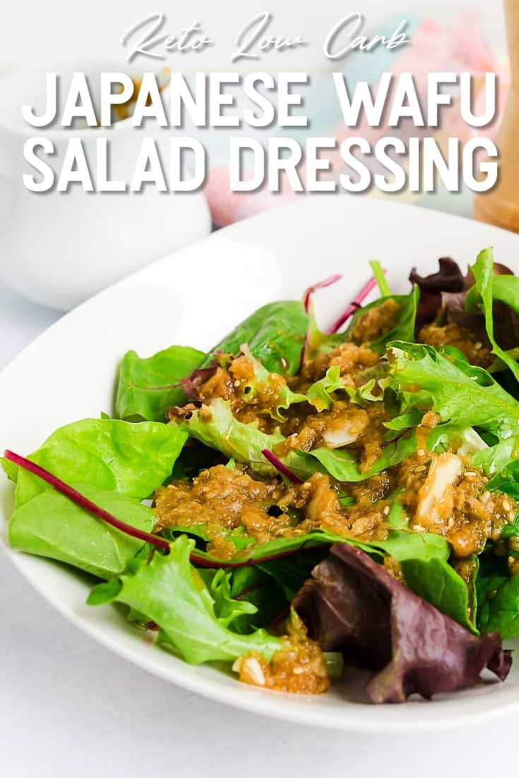 Keto Low Carb Japanese Wafu Salad Dressing LowCarbingAsian Pin 2