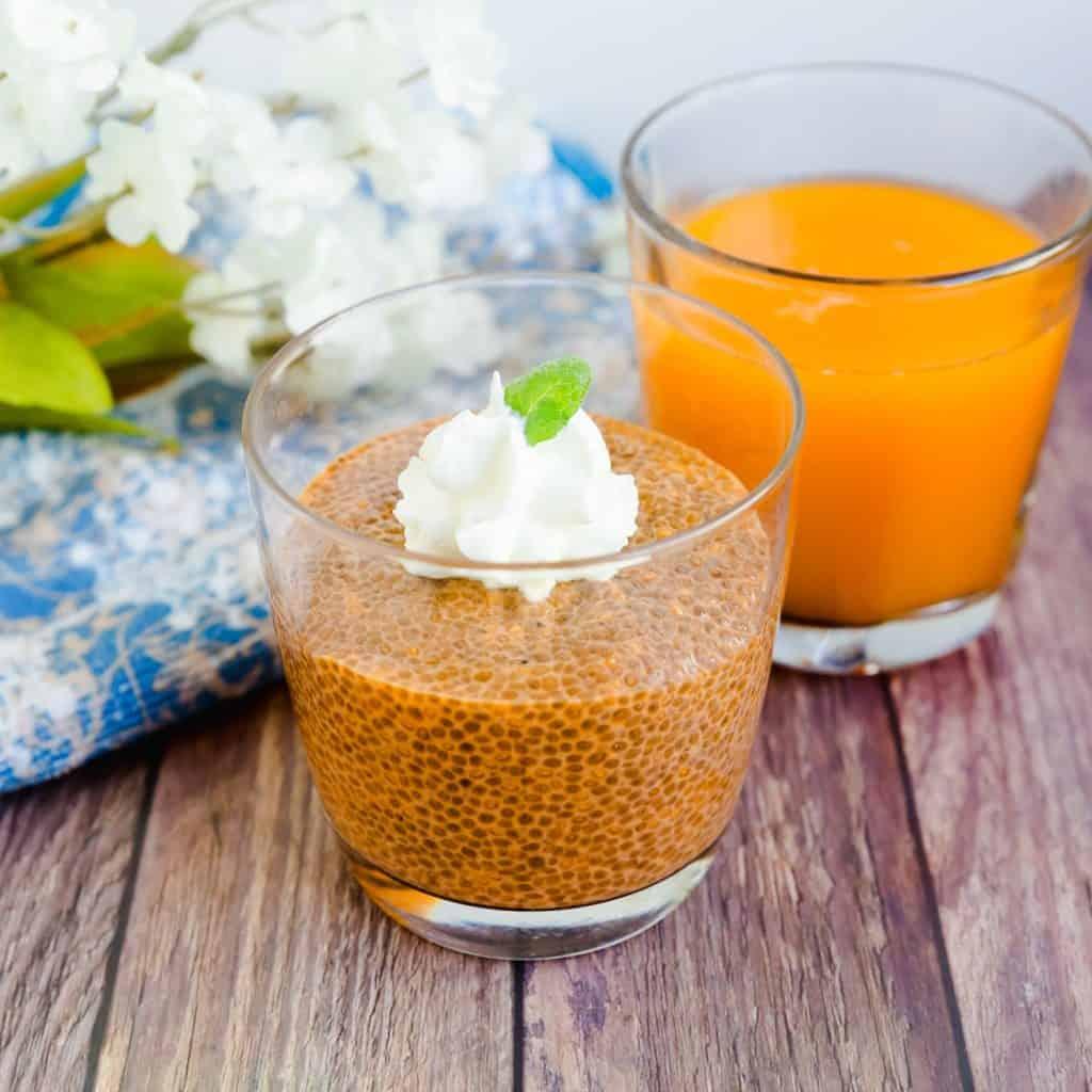 Keto Low Carb Thai Tea Chia Seed Pudding LowCarbingAsian Pic 1