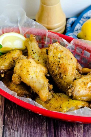 Lemon Pepper Fried Chicken Wings LowCarbingAsian Cover