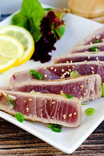 Seared Yellowfin Tuna - Tataki LowCarbingAsian Cover 3