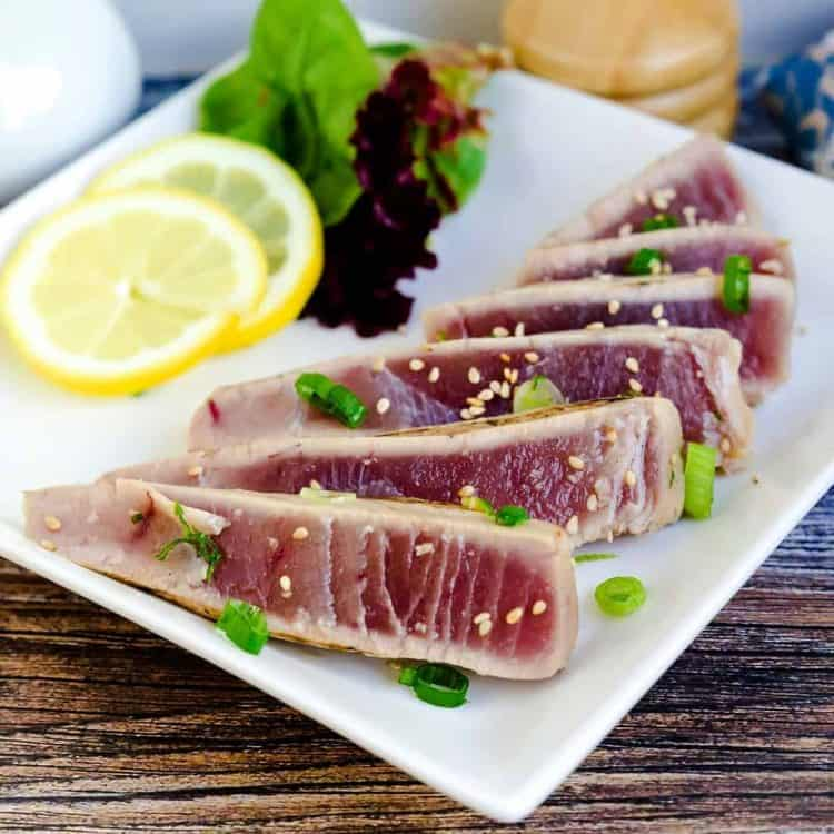 Seared Yellowfin Tuna - Tataki LowCarbingAsian Cover 3