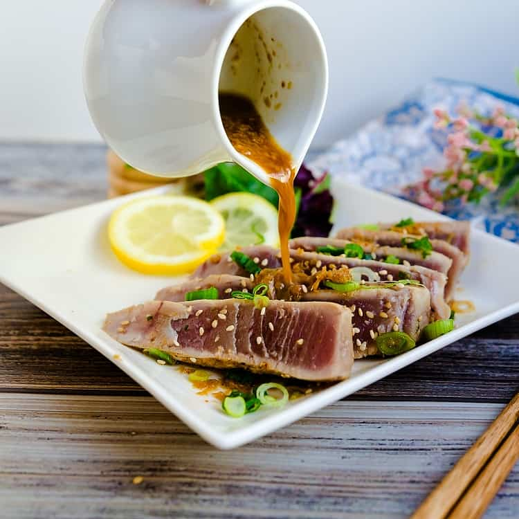 Seared Yellowfin Tuna - Tataki LowCarbingAsian Pic 1