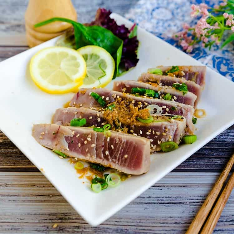 Seared Yellowfin Tuna - Tataki LowCarbingAsian Pic 2