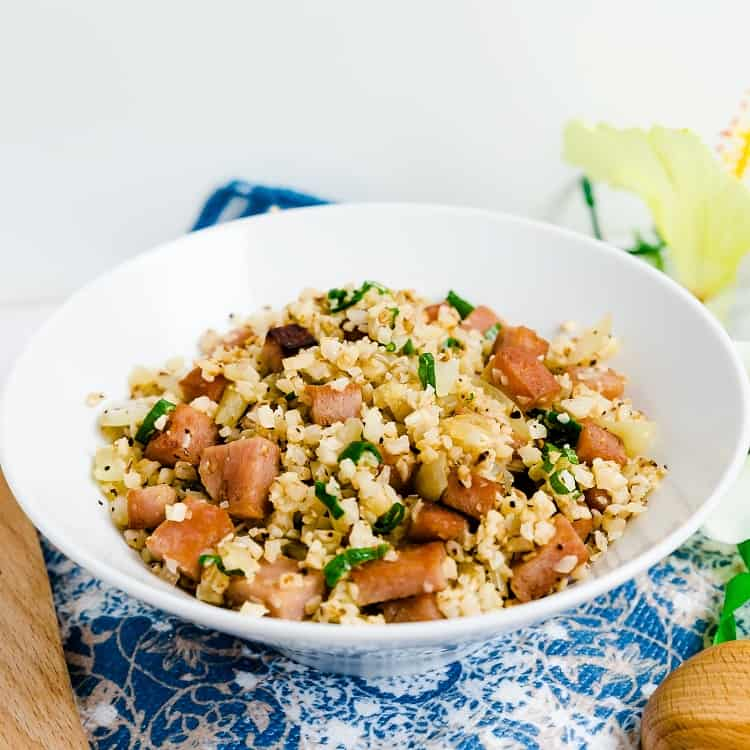 Spam Cauliflower Fried Rice LowCarbingAsian Pic 1
