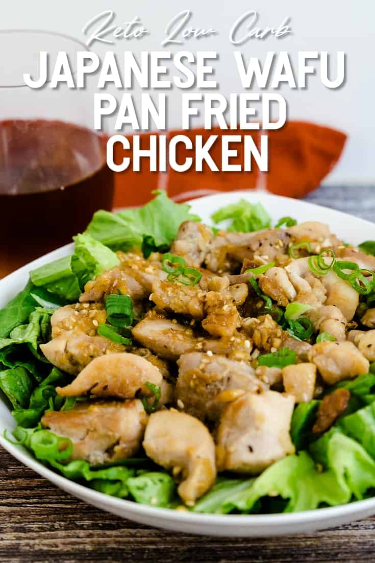 Keto Low Carb Japanese Wafu Pan Fried Chicken